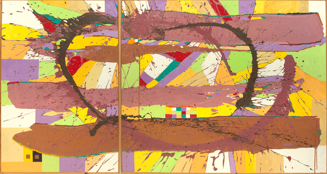 """Untitled Diptych :: 132"""" x 72"""" oil on canvas diptych"""